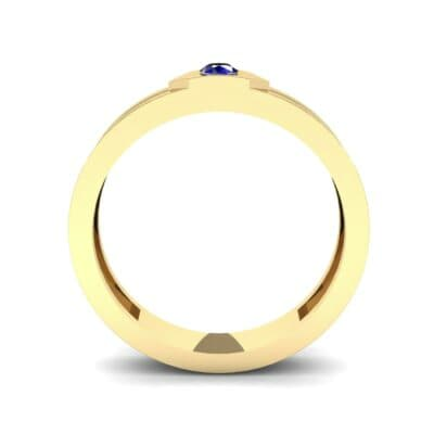 Hexa Solitaire Blue Sapphire Ring (0.06 CTW) Side View