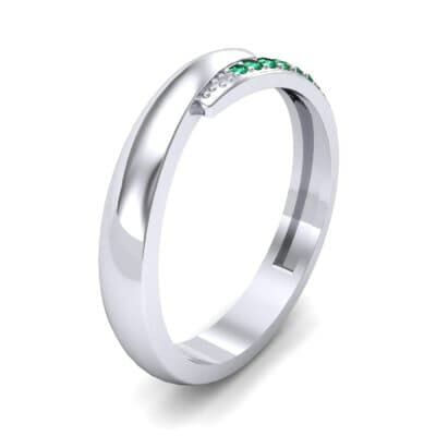 Caress Solitaire Emerald Ring (0.07 CTW) Perspective View