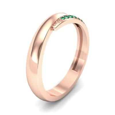 Caress Solitaire  Emerald Ring (0.07 CTW)