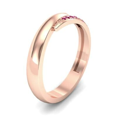 Caress Solitaire  Ruby Ring (0.07 CTW)