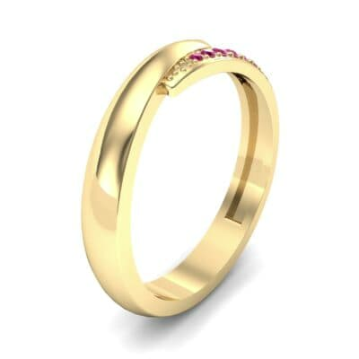 Caress Solitaire Ruby Ring (0.07 CTW) Perspective View