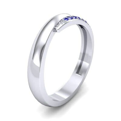 Caress Solitaire Blue Sapphire Ring (0.07 CTW) Perspective View