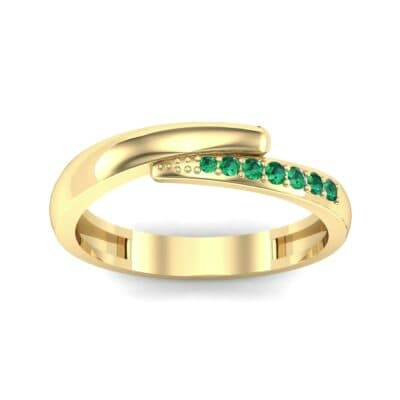 Caress Solitaire Emerald Ring (0.07 CTW) Top Dynamic View