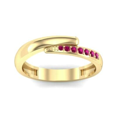 Caress Solitaire Ruby Ring (0.07 CTW) Top Dynamic View