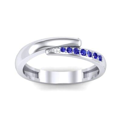 Caress Solitaire Blue Sapphire Ring (0.07 CTW) Top Dynamic View