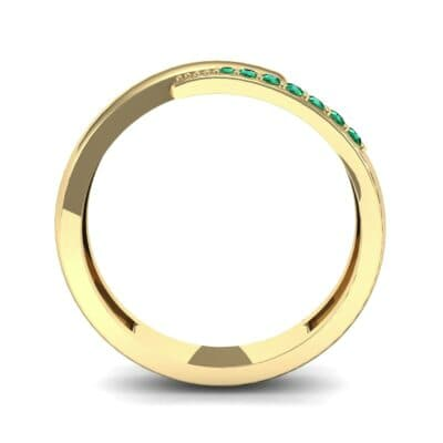 Caress Solitaire Emerald Ring (0.07 CTW) Side View