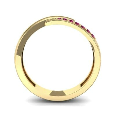 Caress Solitaire Ruby Ring (0.07 CTW) Side View