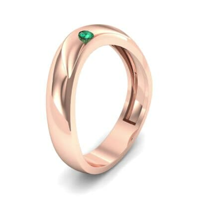 Eclipse Solitaire Emerald Ring (0.04 CTW)
