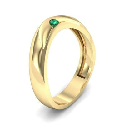 Eclipse Solitaire Emerald Ring (0.04 CTW) Perspective View