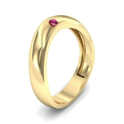Eclipse Solitaire Ruby Ring (0.04 CTW) Perspective View