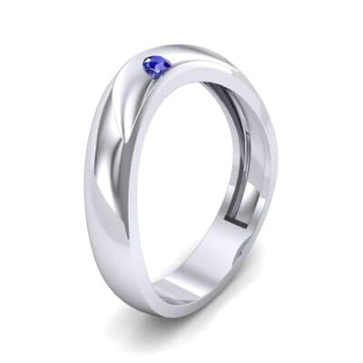 Eclipse Solitaire Blue Sapphire Ring (0.04 CTW) Perspective View