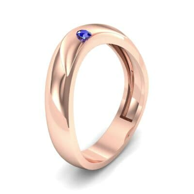 Eclipse Solitaire Blue Sapphire Ring (0.04 CTW)