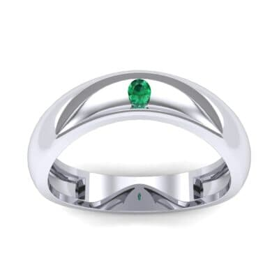 Eclipse Solitaire Emerald Ring (0.04 CTW) Top Dynamic View