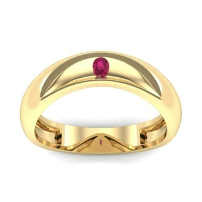 Eclipse Solitaire Ruby Ring (0.04 CTW) Top Dynamic View