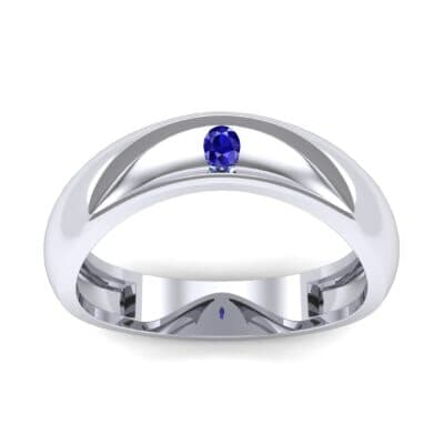 Eclipse Solitaire Blue Sapphire Ring (0.04 CTW) Top Dynamic View