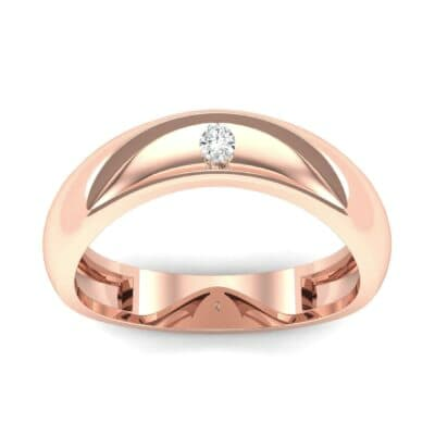 Eclipse Solitaire Diamond Ring (0.04 CTW) Top Dynamic View