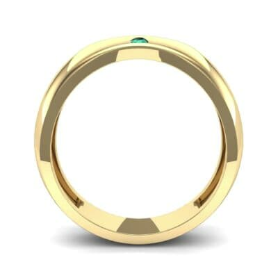 Eclipse Solitaire Emerald Ring (0.04 CTW) Side View