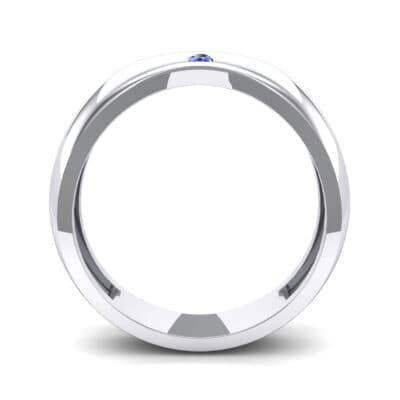Eclipse Solitaire Blue Sapphire Ring (0.04 CTW) Side View