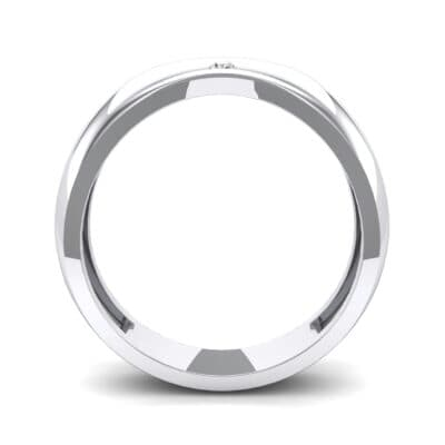 Eclipse Solitaire Crystal Ring (0.04 CTW) Side View