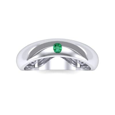 Eclipse Solitaire Emerald Ring (0.04 CTW) Top Flat View