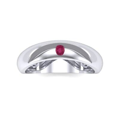 Eclipse Solitaire Ruby Ring (0.04 CTW) Top Flat View