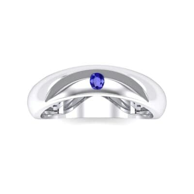 Eclipse Solitaire Blue Sapphire Ring (0.04 CTW) Top Flat View