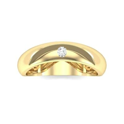Eclipse Solitaire Diamond Ring (0.04 CTW) Top Flat View