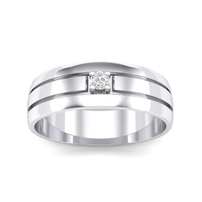 Banded Solitaire Crystal Ring (0.04 CTW) Top Dynamic View