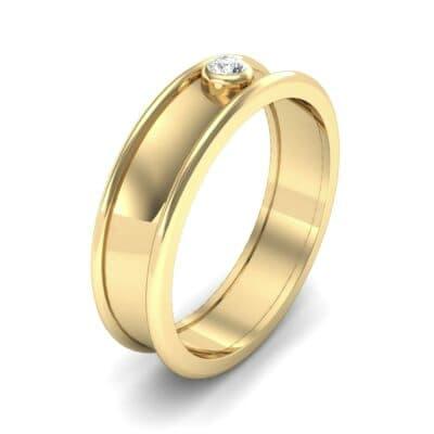 Raised Edge Bezel Diamond Ring (0.07 CTW)