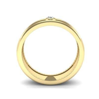 Raised Edge Bezel Diamond Ring (0.07 CTW) Side View