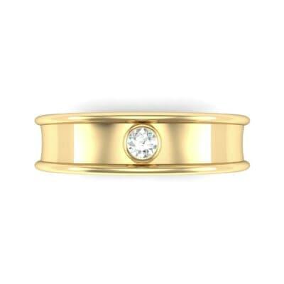 Raised Edge Bezel Diamond Ring (0.07 CTW) Top Flat View