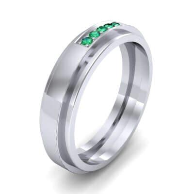 Avenue Solitaire Emerald Ring (0.08 CTW)