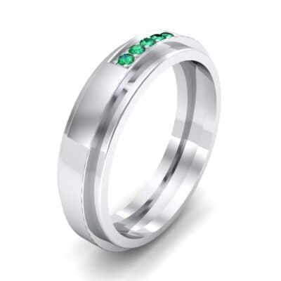 Avenue Solitaire Emerald Ring (0.08 CTW) Perspective View