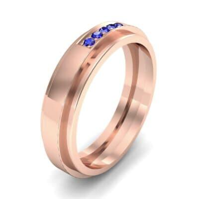 Avenue Solitaire Blue Sapphire Ring (0.08 CTW)