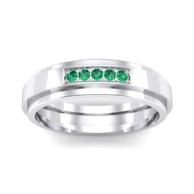 Avenue Solitaire Emerald Ring (0.08 CTW) Top Dynamic View