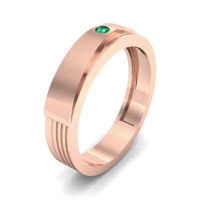 Asymmetrical Avenue Emerald Ring (0.03 CTW)