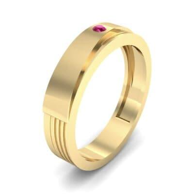 Asymmetrical Avenue Ruby Ring (0.03 CTW)