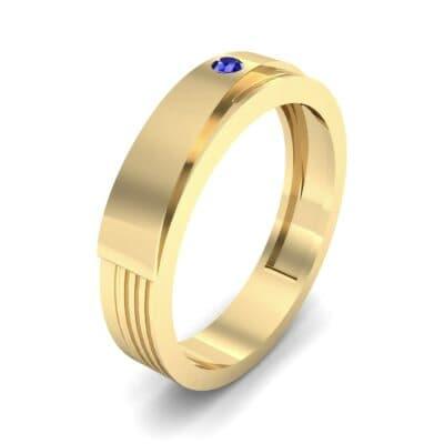 Asymmetrical Avenue Blue Sapphire Ring (0.03 CTW)