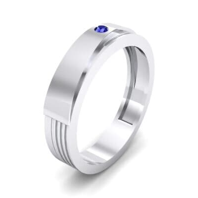 Asymmetrical Avenue Blue Sapphire Ring (0.03 CTW) Perspective View