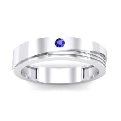 Asymmetrical Avenue Blue Sapphire Ring (0.03 CTW) Top Dynamic View