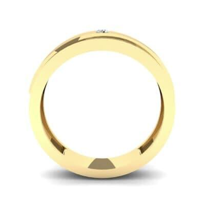 Asymmetrical Avenue Diamond Ring (0.03 CTW) Side View