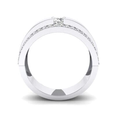 Pave Edge Verge Crystal Engagement Ring (0.35 CTW) Side View
