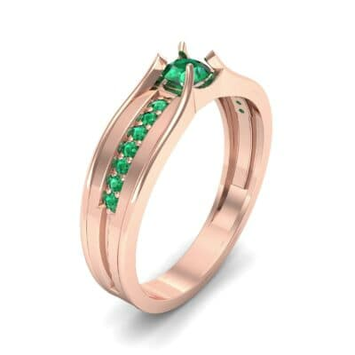 Centerpoint Emerald Engagement Ring (0.45 CTW)
