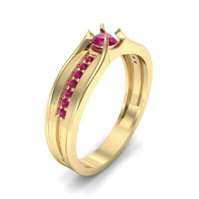 Centerpoint Ruby Engagement Ring (0.45 CTW)