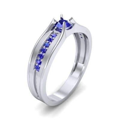Centerpoint Blue Sapphire Engagement Ring (0.45 CTW)