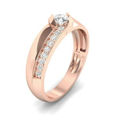 Pave Passage Diamond Engagement Ring (0.45 CTW) Perspective View