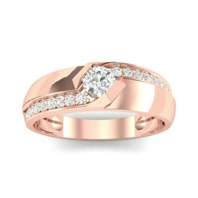Pave Passage Diamond Engagement Ring (0.45 CTW) Top Dynamic View