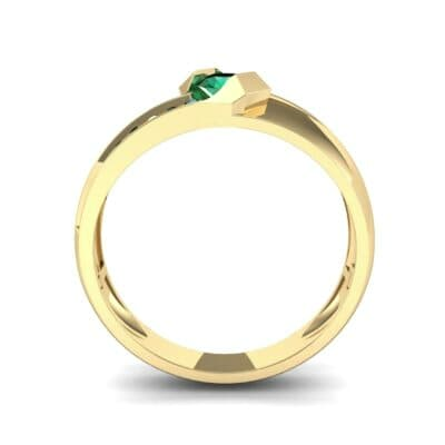 Pave Passage Emerald Engagement Ring (0.45 CTW) Side View