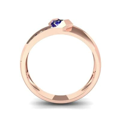 Pave Passage Blue Sapphire Engagement Ring (0.45 CTW) Side View