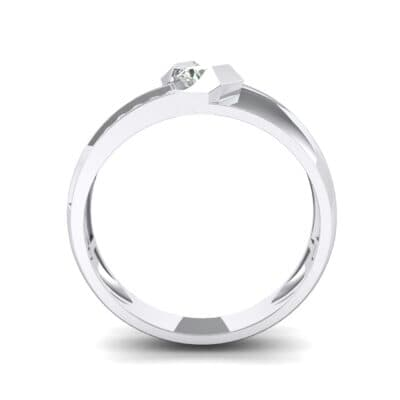 Pave Passage Crystal Engagement Ring (0.45 CTW) Side View